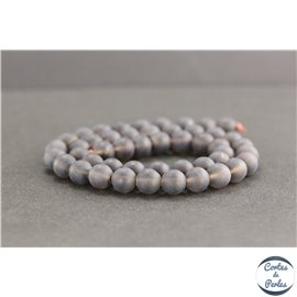 Perles dépolies en quartz fumé du Brésil - Rondes/8mm - Grade A