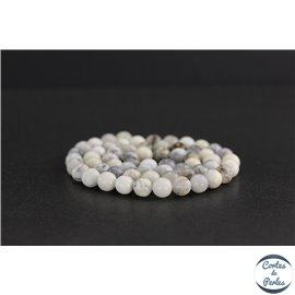 Perles en opale blanche d'Afrique - Rondes/6mm - Grade AB