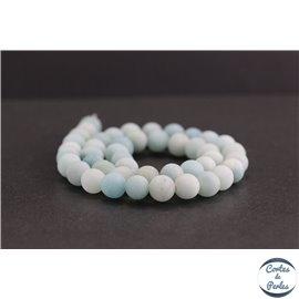 Perles dépolies en amazonite - Rondes/8mm - Grade A