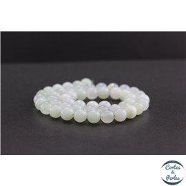 Perles en opale verte d'Afrique - Rondes/8mm - Grade AA