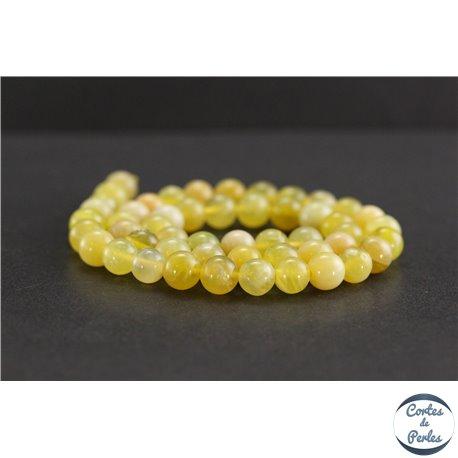 Perles en opale jaune d'Afrique - Rondes/8mm - Grade A+