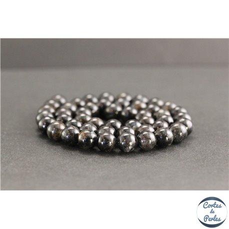 Perles en astrophyllite de Russie - Rondes/8mm - Grade A+