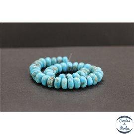 Perles en turquoise Kingman d'Arizona - Roues/8mm - Grade AB+