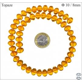 Perles en Cristal de Bohème - Roue/10 mm - Topaze