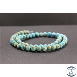 Perles en turquoise Kingman d'Arizona - Rondes/8mm - Grade AB