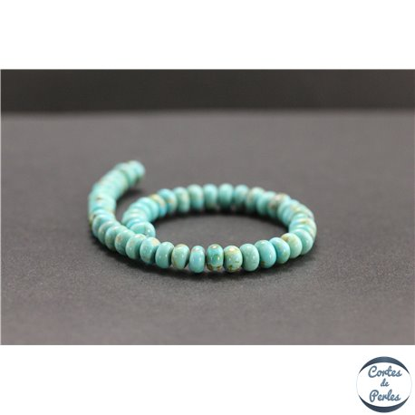 Perles en turquoise Kingman d'Arizona - Roues/6mm - Grade A