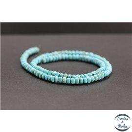 Perles en turquoise Kingman d'Arizona - Roues/5mm - Grade A