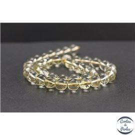 Perles en quartz citron du Brésil - Rondes/10mm - Grade A