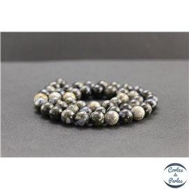 Perles en opale grise d'Afrique - Rondes/8mm - Grade A
