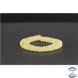 Perles en calcite jaune du Mexique - Rondes/4mm - Grade A