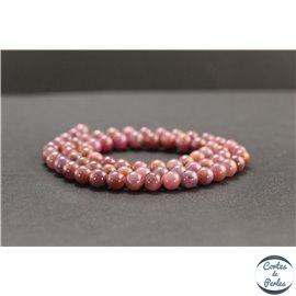 Perles en rubis de Birmanie - Rondes/6mm - Grade AB