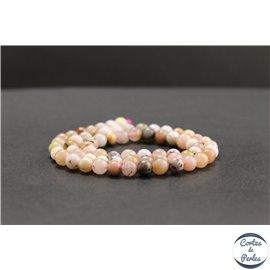 Perles en opale rose d'Afrique - Rondes/6mm - Grade AB