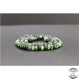 Perles facettées en anyolite de Tanzanie - Roues/6mm - Grade AB