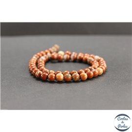 Perles en jaspe rouge d'Australie - Rondes/6mm - Grade AB