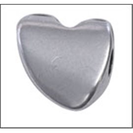 Apprêts intercalaires qualité premium - Coeurs/12 mm - Argenté