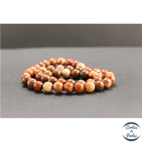 Perles en jaspe rouge d'Australie - Rondes/8mm - Grade AB