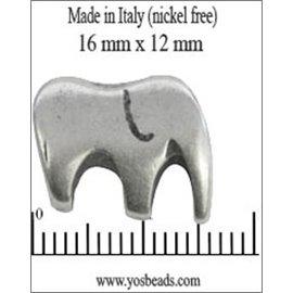 Apprêts Intercalaires qualité premium - Éléphant/16 mm - Argenté