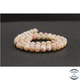 Perles en opale rose d'Afrique - Rondes/6mm - Grade A