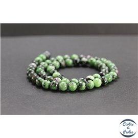 Perles en anyolite de Tanzanie - Rondes/6mm - Grade AB