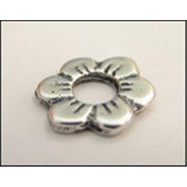 Apprêts Intercalaires qualité premium - Fleur/13 mm - Argenté