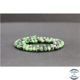 Perles en anyolite de Tanzanie - Rondes/4mm - Grade AB