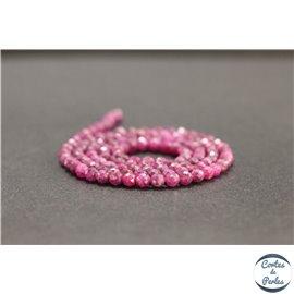 Perles facettées en rubis de Birmanie - Rondes/3mm - Grade AB