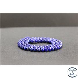 Perles en lapis lazuli d'Afghanistan - Rondes/4mm - Grade AB