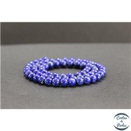 Perles en lapis lazuli d'Afghanistan - Rondes/6mm - Grade AB