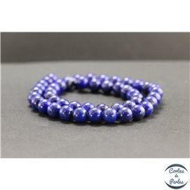 Perles en lapis lazuli d'Afghanistan - Rondes/8mm - Grade AB