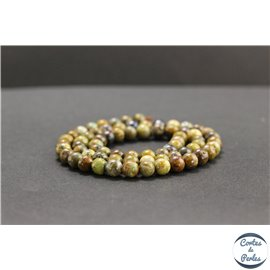 Perles en chrysocolle du Pérou - Rondes/6mm - Grade B