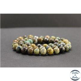 Perles en chrysocolle du Pérou - Rondes/8mm - Grade B
