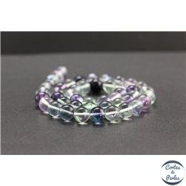 Perles en fluorite de Russie - Rondes/8mm - Grade AA
