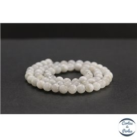 Perles en pierre de lune du Sri Lanka - Rondes/6mm - Grade B