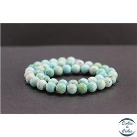 Perles en turquoise du Pérou - Rondes/8mm - Grade A