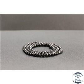 Perles en shungite de Russie - Rondes/4mm - Grade A