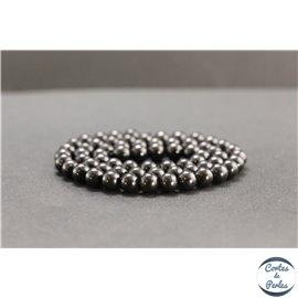 Perles en shungite de Russie - Rondes/6mm - Grade A