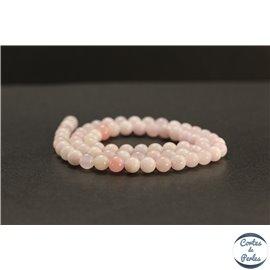 Perles en calcite rose du Mexique - Rondes/6mm - Grade A