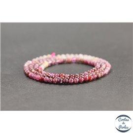 Perles en rubis de Birmanie - Rondes/3mm - Grade AB