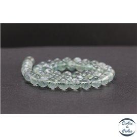 Perles en fluorite verte de Russie - Rondes/8mm - Grade AB+