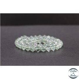 Perles en fluorite verte de Russie - Rondes/6mm - Grade AB+
