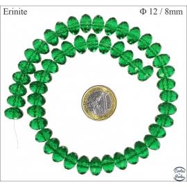 Perles en Cristal de Bohème - Roue/12 mm - Vert