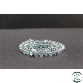 Perles en fluorite bleue de Russie - Rondes/6mm - Grade A