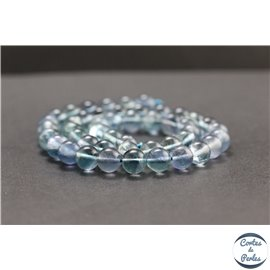 Perles en fluorite bleue de Russie - Rondes/8mm - Grade A