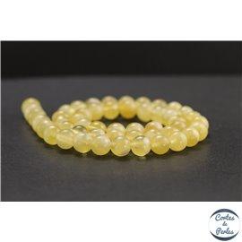 Perles en calcite jaune du Mexique - Rondes/8mm - Grade A