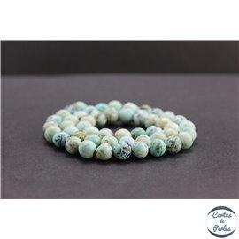 Perles en turquoise du Pérou - Rondes/8mm - Grade AB