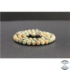 Perles en turquoise du Pérou - Rondes/6mm - Grade B