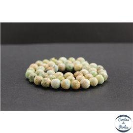 Perles en turquoise du Pérou - Rondes/8mm - Grade B