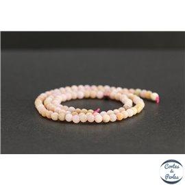 Perles en opale rose d'Afrique - Rondes/4mm - Grade AB+