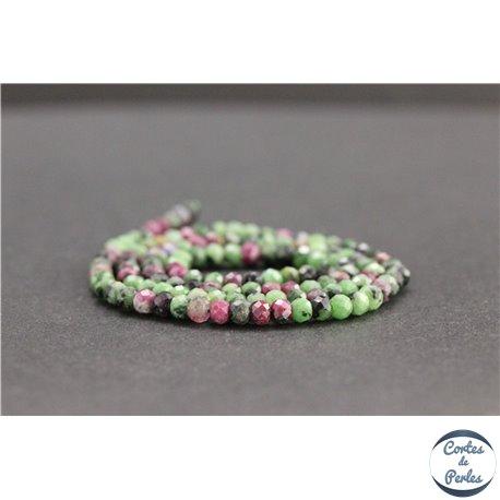 Perles facettées en anyolite de Tanzanie - Roues/4mm - Grade AB