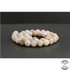 Perles en opale rose d'Afrique - Rondes/10mm - Grade AB
